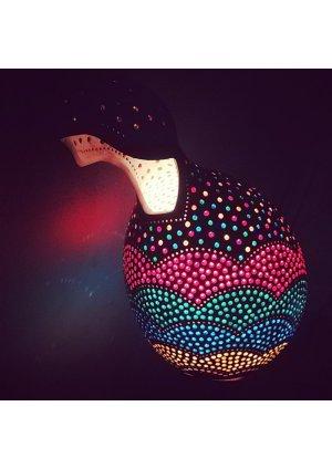 Gökkuşağı su kabağı lamba süs kab…