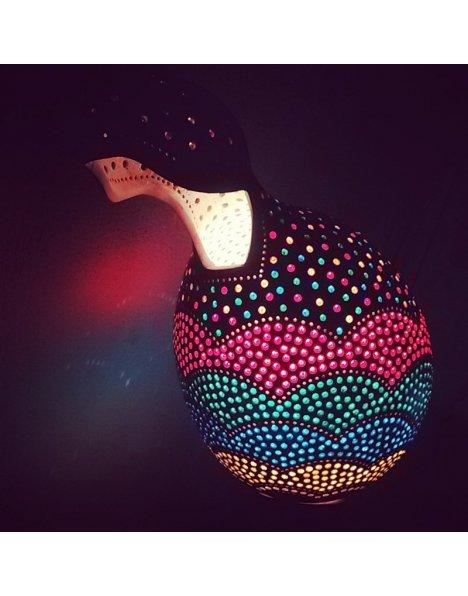 Gökkuşağı su kabağı lamba süs kabağı 2