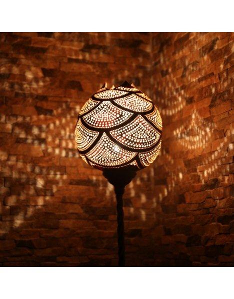 Vitray giydirme lambader su kabağı lamba süs kabağı