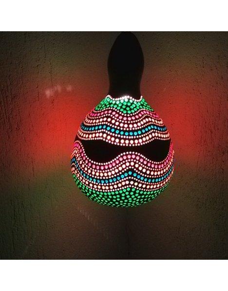 Gökkuşağı temalı su kabağı lamba