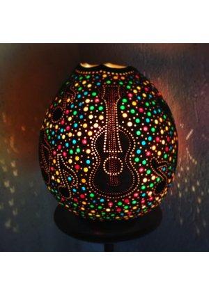 Müzik ve gitar su kabağı lamba…
