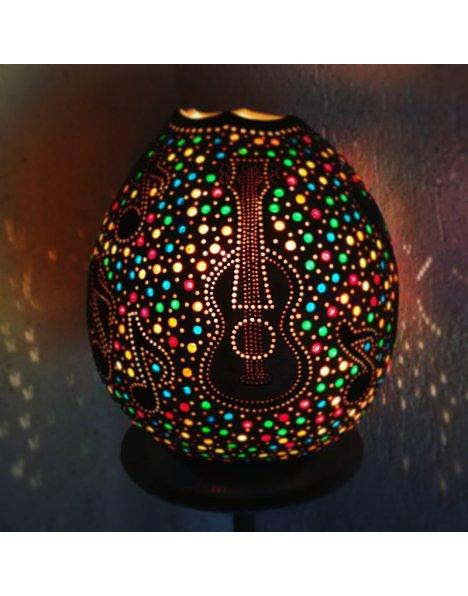 Müzik ve gitar su kabağı lamba