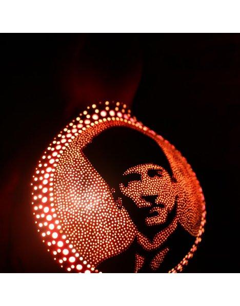 Atatürk silüeti temalı su kabak lamba avize-abajur