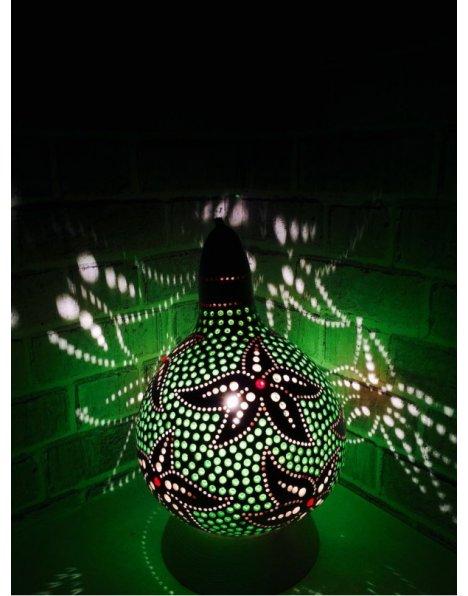 Deniz yıldızı beyaz su kabağı lamba