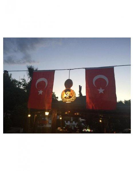 Su kabağı lamba Atatürk silüeti kabak avize