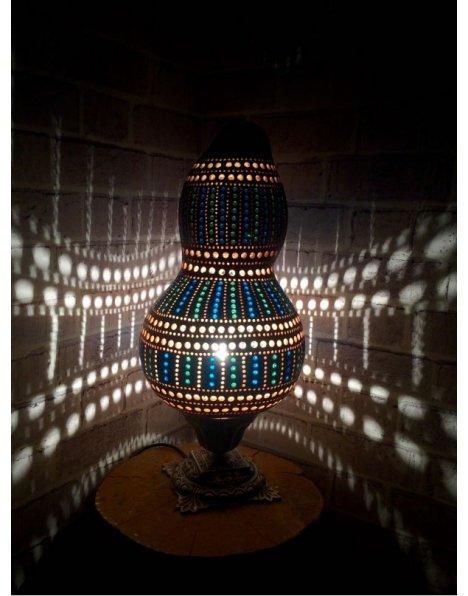 Labirent su kabağı lamba otantik avize ve abajur