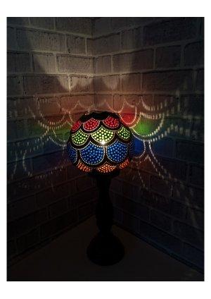 Osmanlı giydirme su kabağı abajur 3…
