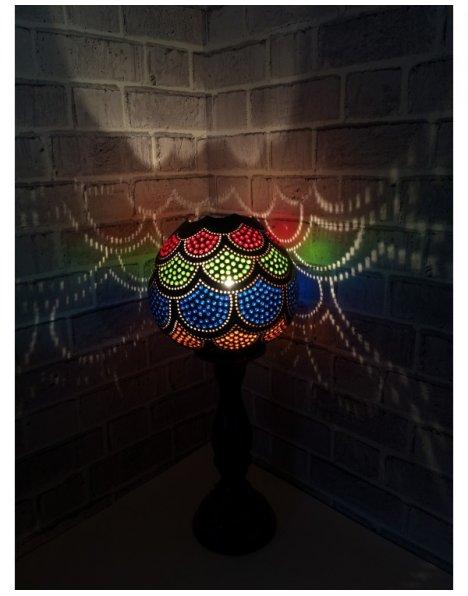 Osmanlı giydirme su kabağı abajur 3