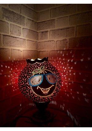 Big orange su kabağı lamba…