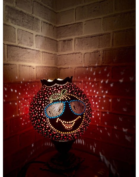 Big orange su kabağı lamba