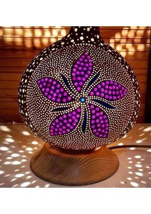 Su kabağı lamba çiçek motifi…