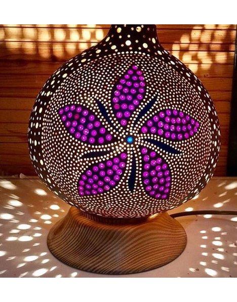 Su kabağı lamba çiçek motifi