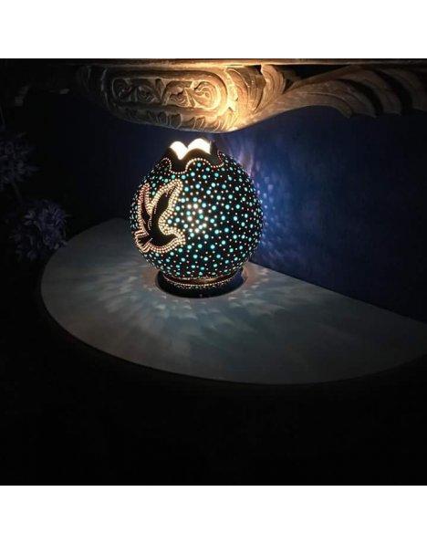 Barış güvercini su kabağı lamba 2