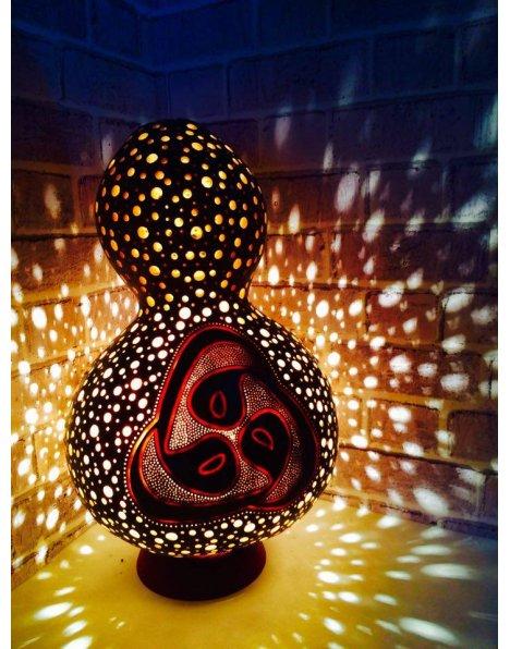 Vav harfi su kabağı lamba avize abajur modeli