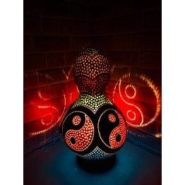Vintage lamba Yin yang su kabağı lamba avize abajur modeli