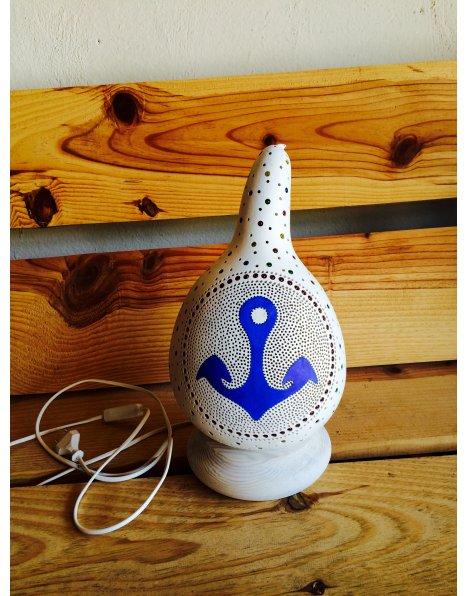 Gemici avize çapa temalı su kabağı lamba