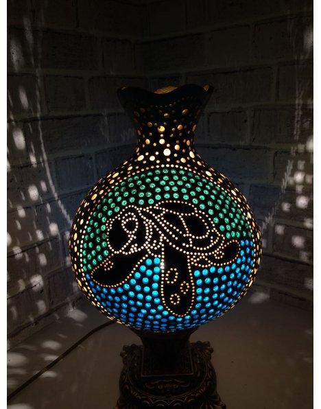 Caretta caretta su kabağı lamba