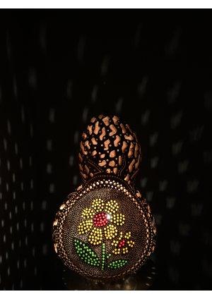 Çiçekli avize su kabağı lamba kabak …