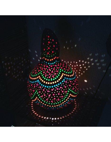 Gökkuşağı temalı su kabak lamba avize abajur 3