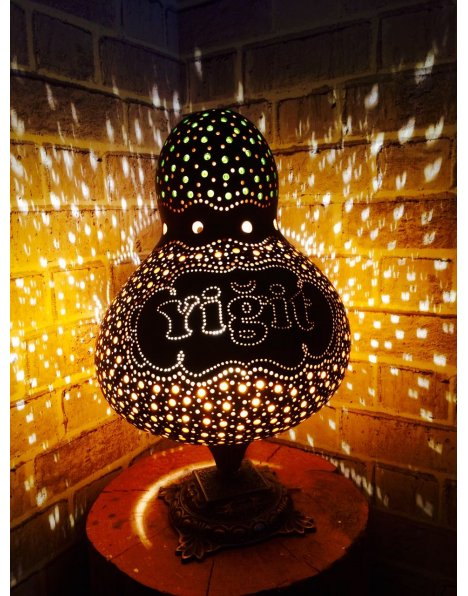 İsme özel su kabağı lamba 5