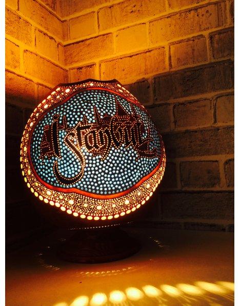 İstanbul silüeti su kabağı lamba