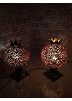 Komidin lambası ikiz su kabağı abajur…