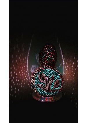 Lale temalı su kabağı lamba süs kaba…