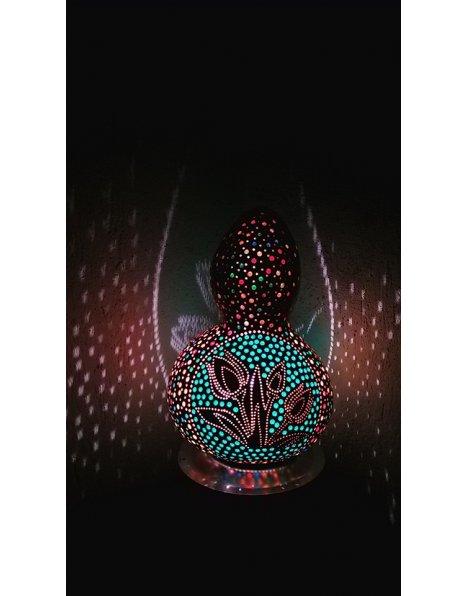 Lale temalı su kabağı lamba süs kabağı