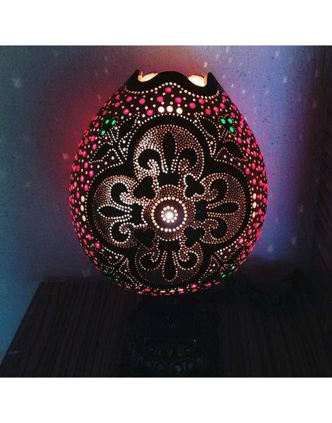 Su kabağı lamba Osmanlı motifli süs kabağı