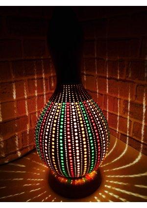 Renkli abajur su kabağı lamba kabak av…