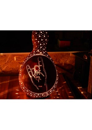 Rock and roll avize abajur su kabağı l…
