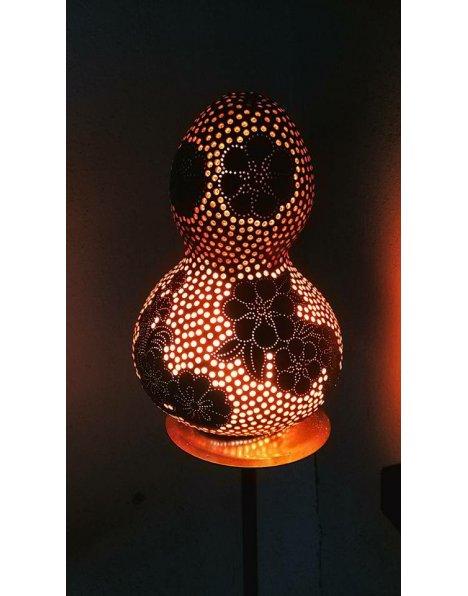 Su kabağı lamba çiçek motifleri flower gourd lamps