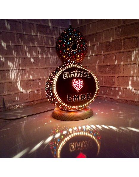 Su kabağı süsleme isimli avize kabak lambalar