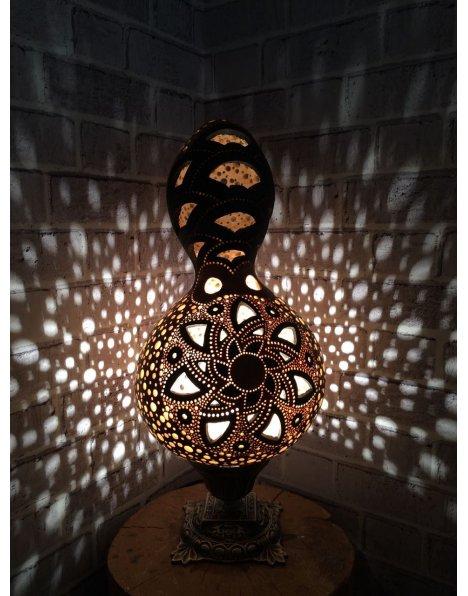 Yelpaze su kabağı lamba