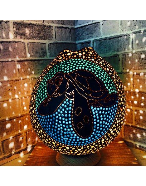 Su kabağı lamba süs kabağı caretta caretta temalı