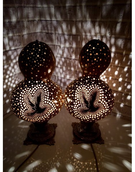 Su kabağı lamba otantik aydınlatmalar barış güvercini