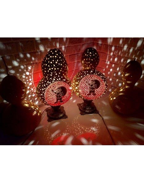 Yılbaşı aydınlatmaları su kabağı lamba noel baba temalı