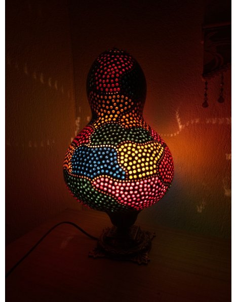 Yapboz su kabağı lamba