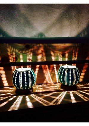 Turkuaz ikiz su kabağı lamba modeli…
