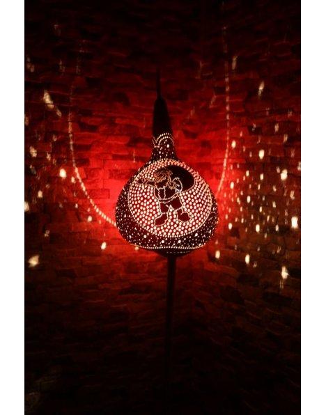 Yılbaşı hediyeleri su kabağı lamba süs kabağı