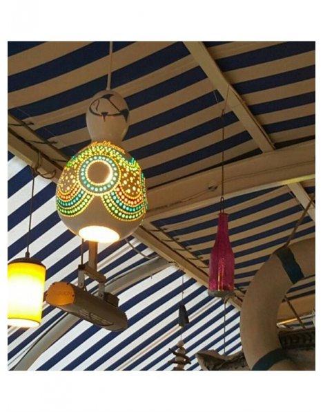 Balık restaurantları için su kabağı lamba