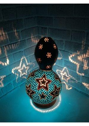 Mavi yıldız su kabağı lamba…