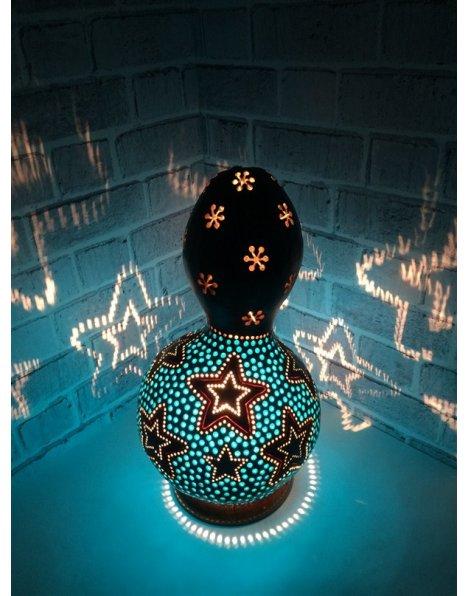 Mavi yıldız su kabağı lamba