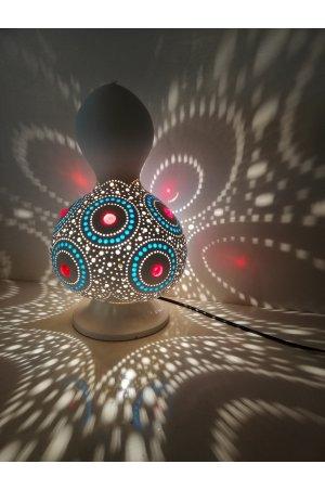 Beyaz daire kabak lamba