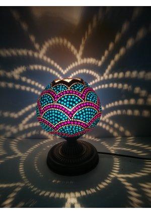 Bordo mavi su kabağı lamba…