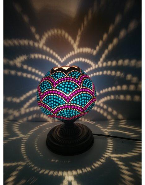 Bordo mavi su kabağı lamba