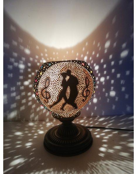 Tango temalı su kabağı lamba