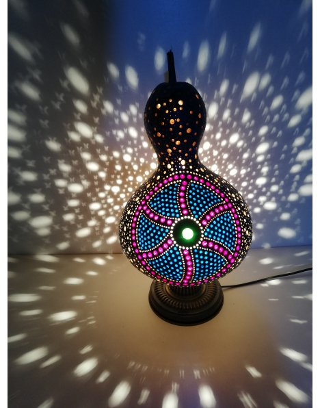 Serbest çizim su kabağı lamba
