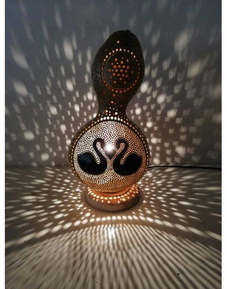Kuğu temalı kabak lamba