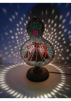 Semazen abajur su kabağı lamba…
